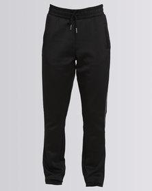 New Look Contrast Trim Straight Leg Joggers Black
