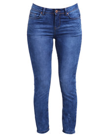 New Look Bungle Authentic Crop Jeans Blue