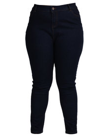 New Look Dest Skinny Jeans Navy Blue