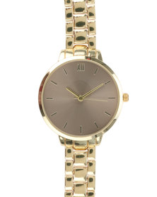 New Look Winter Mink Dial Sports Watch Gold-Tone