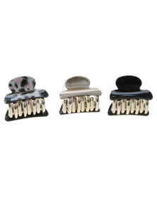 New Look 3 Pack Leopard Neutral Bulldog Hair Accessory Multi