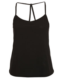 New Look Crepe Strappy Cami Black