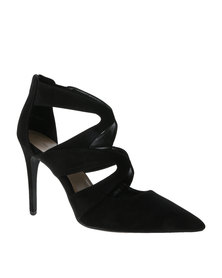 New Look Shiver Strappy Point Court Shoes Black