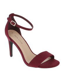 New Look Roka 2 Square Toe Heel Dark Red