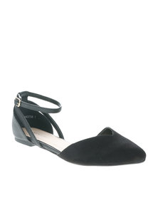 New Look Jolidify Ankle Strap Pumps Black