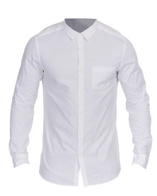 New Look Long Sleeve YD Oxford Shirt White