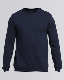 New Look Crew Neck Sweater Navy