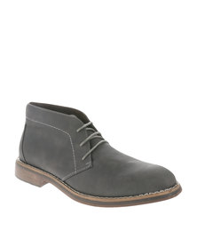 New Look Kingston Nubuck Boot Charcoal