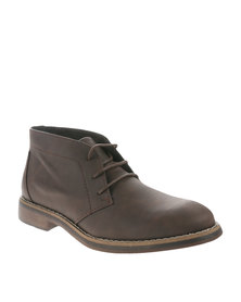 New Look Kingston Nubuck Boot Brown