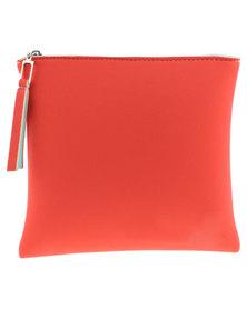 Nicole Martine Beachwear The Meno Neoprene Makeup Bag Red