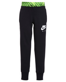 Nike Camo FT Cuff Pants YTH Black and White