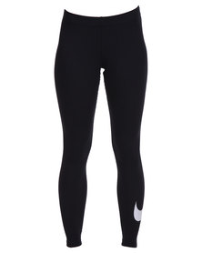 Nike Club Leggings with Large Swoosh Black