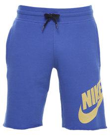 Nike AW77 FT Alumni Shorts Blue