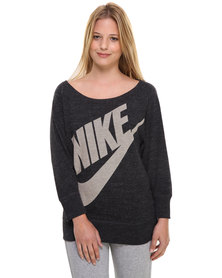 Nike Gym Vintage Crew Sweater Black