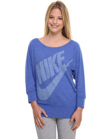 Nike Gym Vintage Crew Sweater Blue