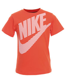 Nike Dash Nike Short Sleeve Top Orange