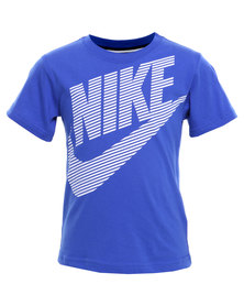 Nike Dash Nike Short Sleeve Top Blue