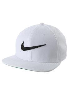 Nike U NK Cap Pro Swoosh Classic White