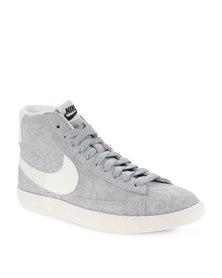 Nike Blazer Mid Premium Vintage Hi-Top Sneakers Grey
