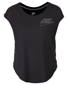 Nike Signal Small Logo Tee Black/White