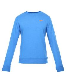 Nike Club Crew Swoosh Top Blue