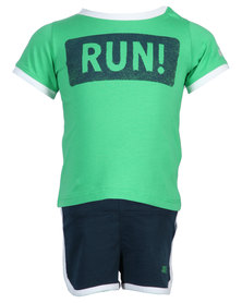Nike Infant Running Set Green