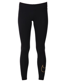 Nike Large Swoosh Club Leggings Black