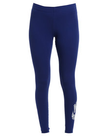 Nike Leg A See Logo Leggings Blue