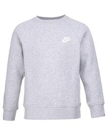 Nike YA76 Franchise BF Crew Sweater Light Grey