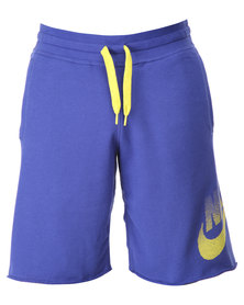 Nike AW77 ALMNI FT Futura Shorts Royal Blue
