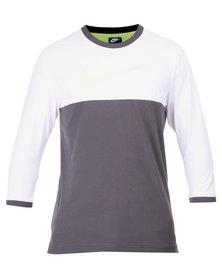 Nike AV15 Knit 3/4 Sleeve Top White and Anthracite