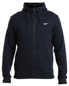 Nike Club Full-Zip Hoodie-Swoosh Navy