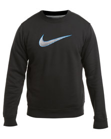 Nike Club Fleece Crew Swoosh Black