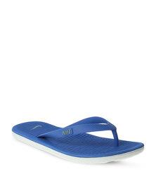 Nike Solar Soft Thong 2 Flip Flops Blue