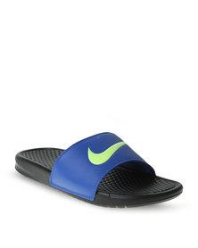 Nike Benassi Swoosh Sliders Blue