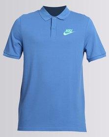 Nike NSW Polo PQ Matchp Tee Blue