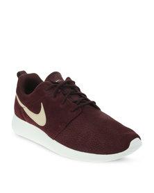 Nike Roshe Run Suede Sneakers Burgundy