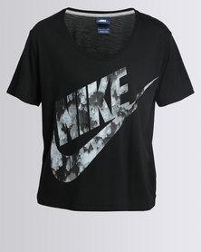 Nike Womens Nike Swoosh Top GX FTW Black