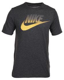 Nike Oversize Speckle Futura Tee Black
