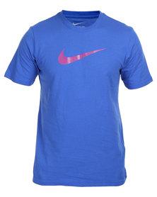 Nike Chest Swoosh Tee Blue