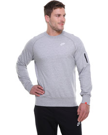 Nike Crew Neck Top Grey