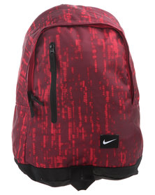 Nike Zip Front Backpack Red