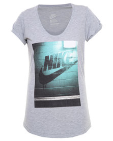 Nike Wall Futura Boyfriend Tee Grey
