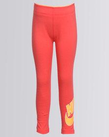 Nike Club Futura Leggings Coral