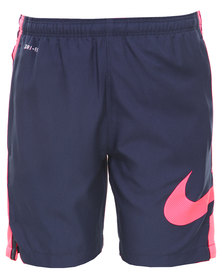 Nike GPX Strike Longer Woven Shorts Navy Blue