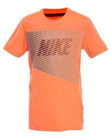 Nike  Hyper Speed SS GFX2 YTH Top Orange