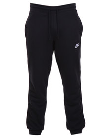 Nike AW77 French Terry Cuff Pants Black and White