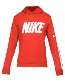 Nike Club Hoody with Swoosh Red