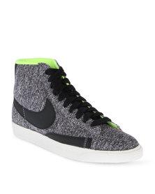Nike Blazer Mid Textile Sneakers Black