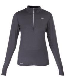 Nike Performance Element 1/2 Zip Running Top Black